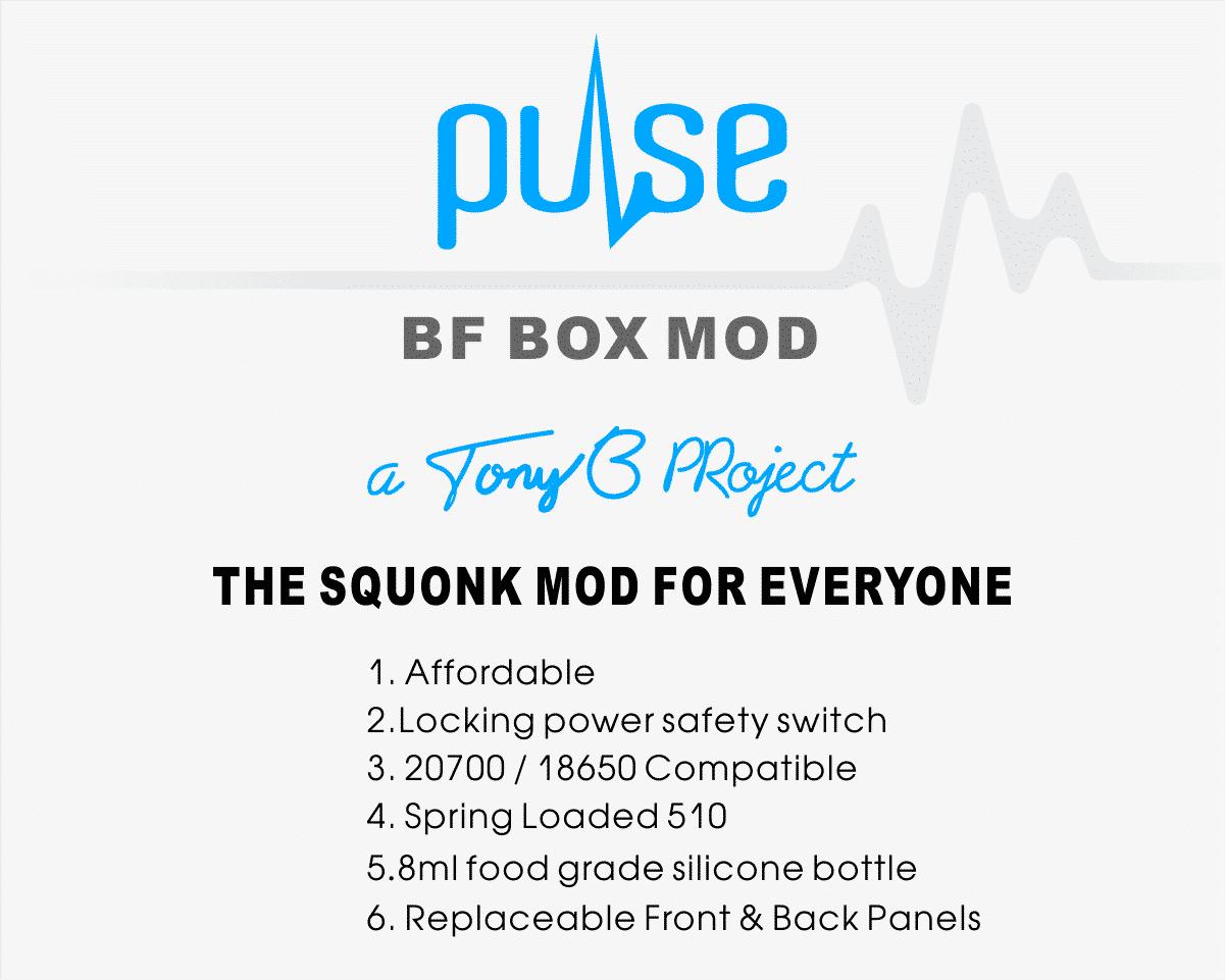 Pulse BF Squonk Box Mod by Vandy Vape Vandy Vape Pulse BF Box Mod Xsmokers