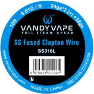 Vandy Vape SS316L Fused Clapton 24Ga