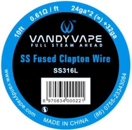 Vandy Vape SS Fused Clapton 28Ga Greece Xsmokers
